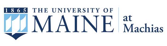 The University of Maine at Machias primary logo