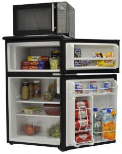 Picture of a mini refrigerator/microwave combo unit