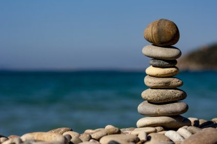 cairn rocks on the ocean