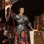 painting of Joan of Arc raising the flag