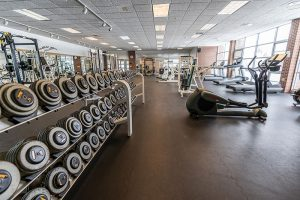 Fitness center weights and exercise equipment