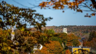Fall foliage in Machias