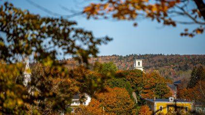 Fall foliage in Machias