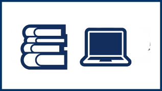 Laptop and book icon